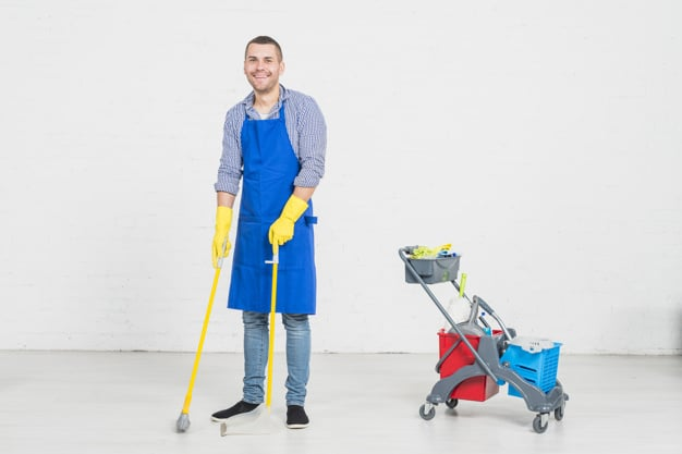 man-cleaning-his-home