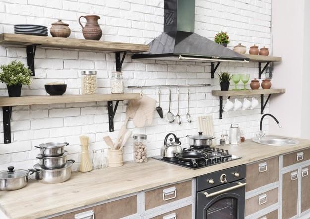 Stylish modern kitchen area