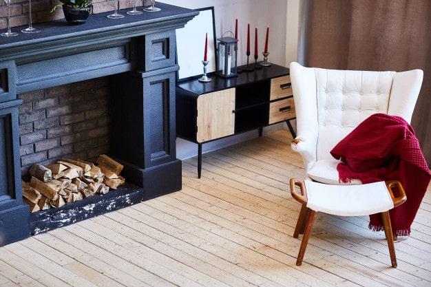 Beautiful living room fireplace