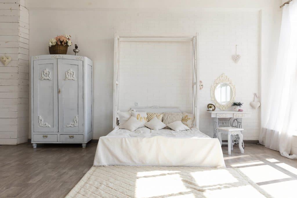 A vintage designed bedroom