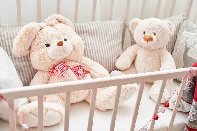 rabbit-bear-white-crib-soft-toys-children-s-bedroom