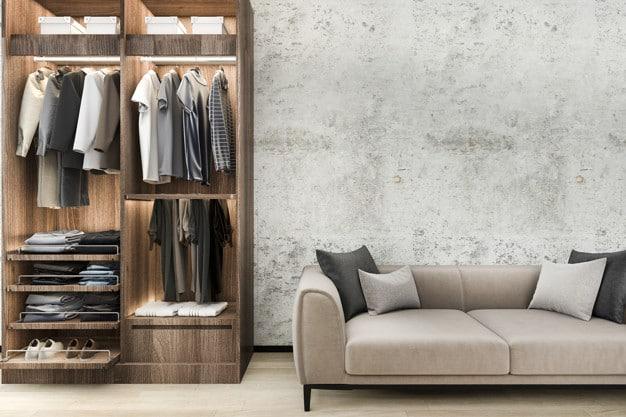 minimal-loft-sofa-with-wood-wardrobe