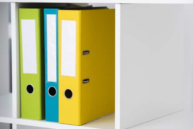 folder shelf