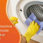 Washing machine cleaning guide custom graphic