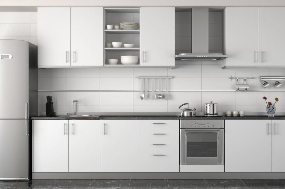 modern designed all-white inspired kitchen