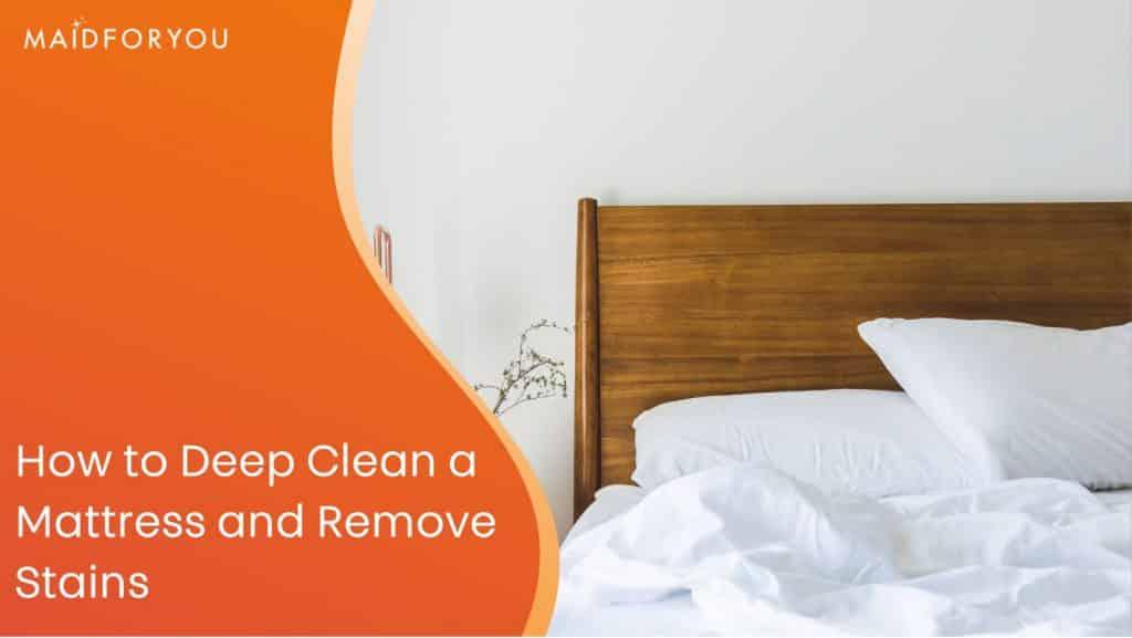 how to deep clean a mattress custom graphic