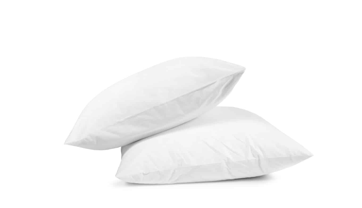 two white plush pillows on top of each other