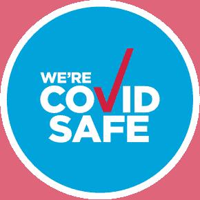 The covid safe logo